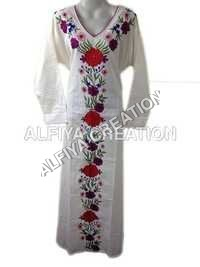 Embroidered Casual Cotton Maxi Farasha Kaftan
