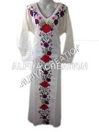 Embroidered Casual Cotton Maxi Farasha Kaftan