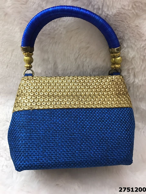 Beautifully Designed Embroidery Jute Handbag