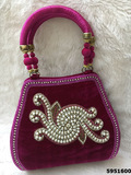 Sensational Design Stone And Pearl Work Handbag