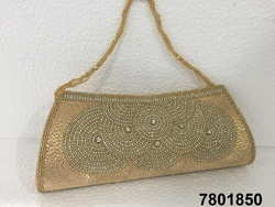 Designer Stone Work Evening Clutch Bag