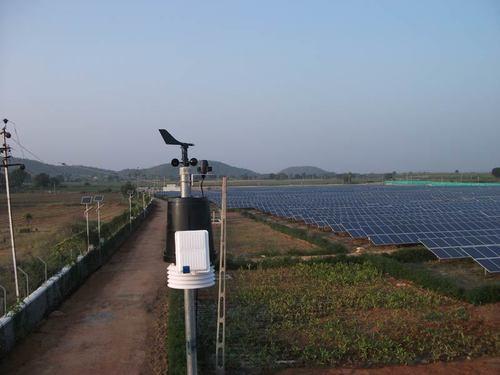 Weather station solar pv plant