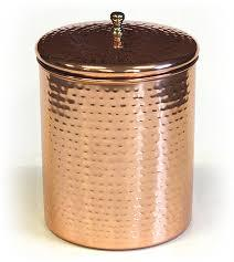 Hammered Copper Canister