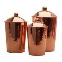 Vintage Copper Canister Set