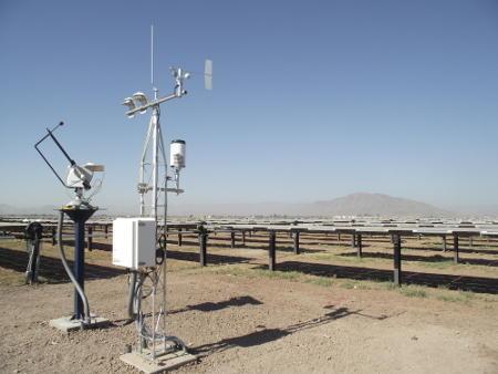 Solar power weather sensors