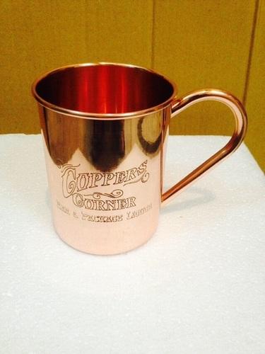 Designer Copper Mug Etched