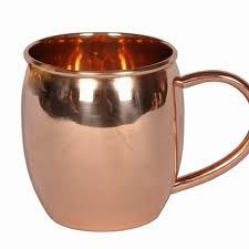Copper Mug plain with Copper handle