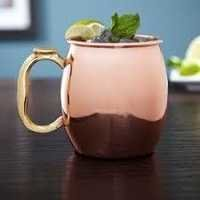 Copper Mugs with Thumb Handle