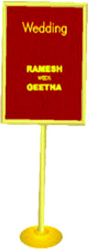 GOLD SIGN BOARD