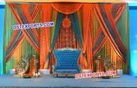 Wedding Colourful Backdrop Stage Decoration