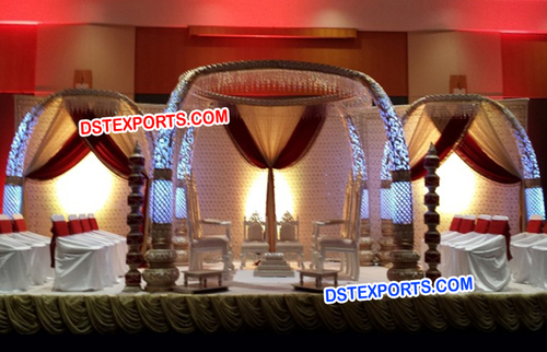 Lighted Elephant Teeth Pillar Mandap