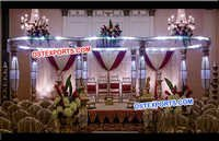 Lighted Bottle Crystal Pillar Mandap