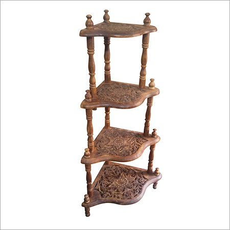 Wooden Decorative Corner Stand