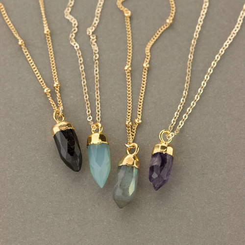 Gold Electroplated Charm Necklace