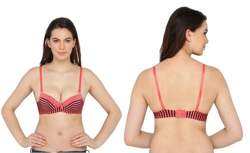 Vivity Women's Push-up Red Bra