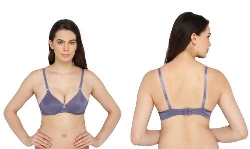 Vivity Women's Push-up Light Blue Bra