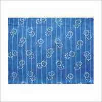 Indigo Hand Block Print Cotton Fabric