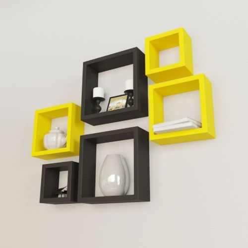 Wall Mount 6 Set Shelves