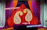 Punjabi Wedding Paisley Mehandi Stage