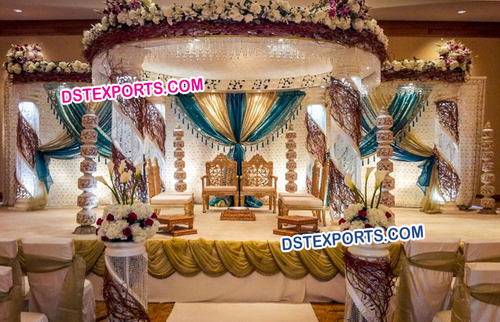 Amazing Fiber Crystal Wedding Mandap