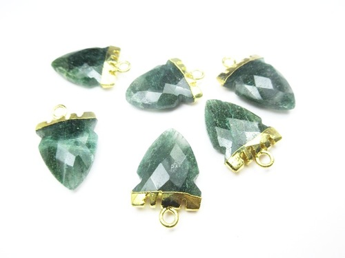 Green Aventurine Gold Electroplated Pendant
