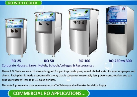 RO 250 LPH WITH COOLER (PER DAY 2500 LITTER)