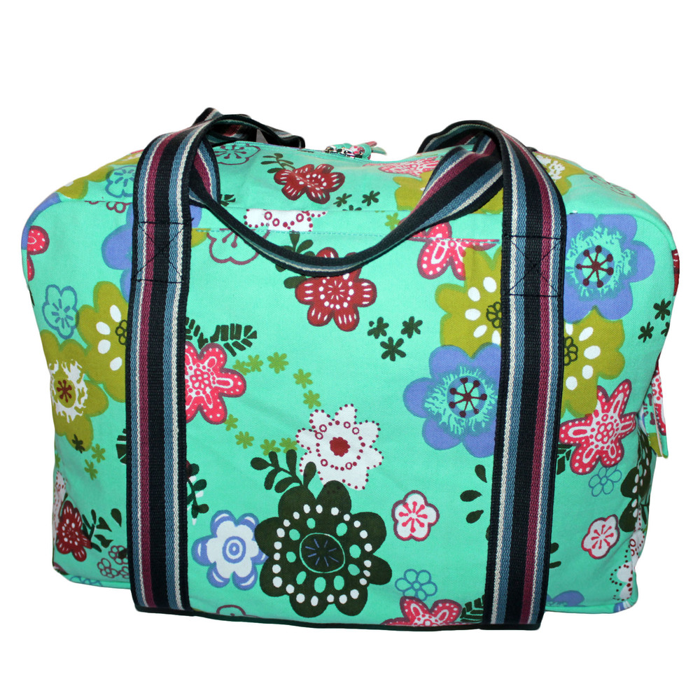 Green Printed Yoga Kit Bag