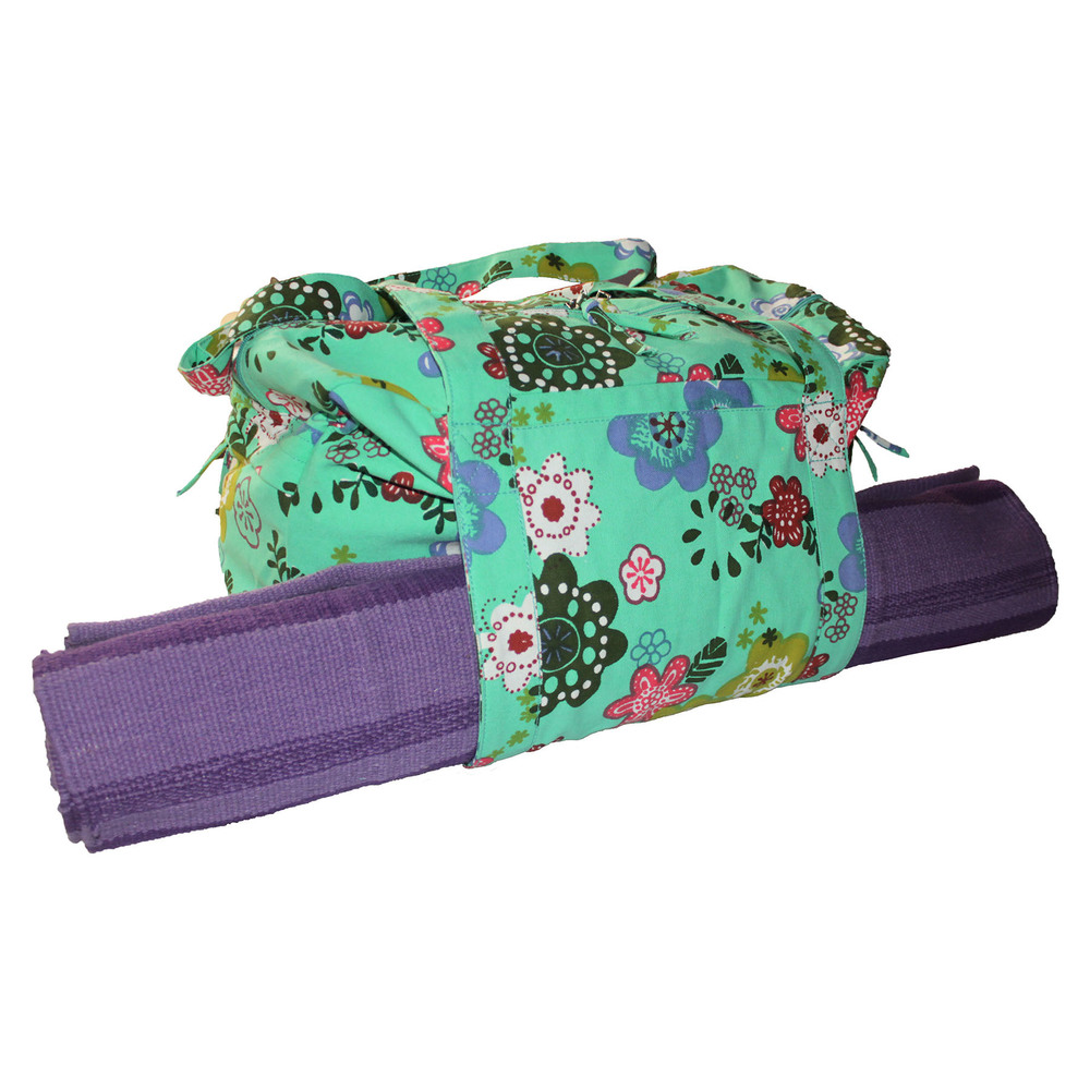 Small Size Green Printed  Yoga Kit Bag