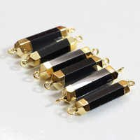 Black Onyx Gold Electroplated Connector