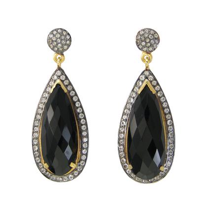 Black Onyx CZ Earring