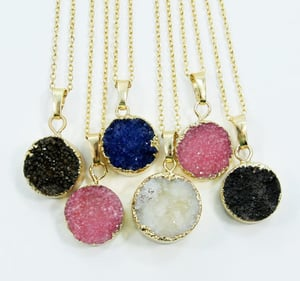 Druzy Long Chain Necklace