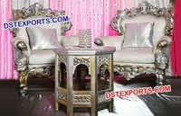 Double Shade Designer Carved Chairs