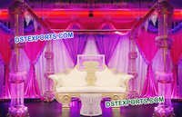 Fully Crystal Maharaja Wedding Stage