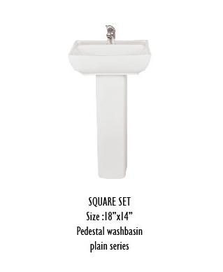 Square Pedestal Wash Basin