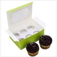Cupcake Box - Green - Mini - Window (6 Piece)