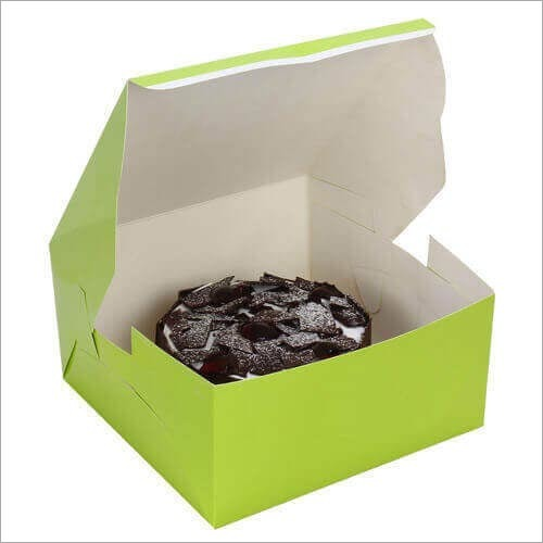 Cake Box - Green (For Half Kg Cake)