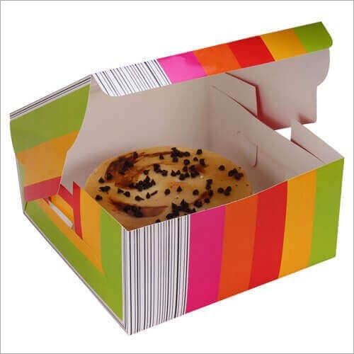 Cake Box - Multicolour - Window (For 1 Kg Cake)