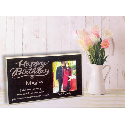Wooden Birthday Photo Frame