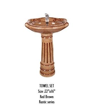 Pedestal Rustic Wash Basin