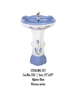 Pedestal Sterling Wash Basin Set