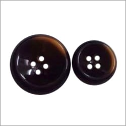 Coffee brown polyester button
