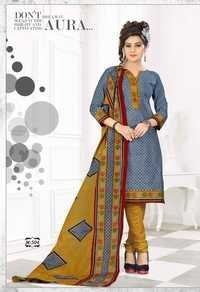 Pure Cotton Dress Materials With Cotton Dupatta Wholesale