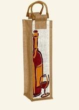 burlap wine bags