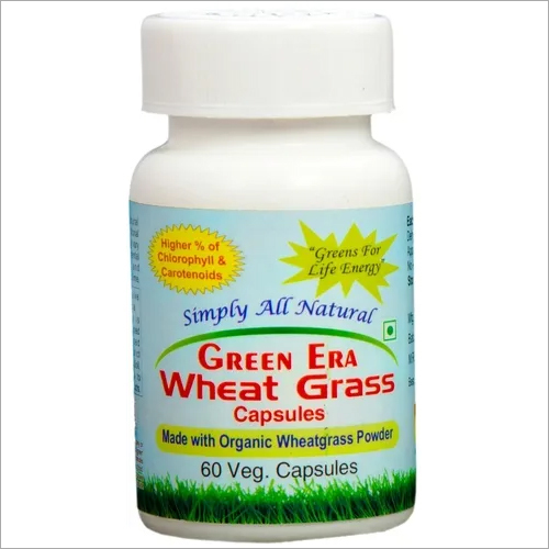 wheat grass powder 60 capsules bottle