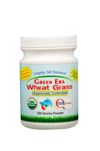 Wheat Grass 100 gram Powder Bottle