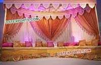 Pakistani Wedding Mehendi Stage Setup