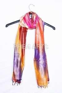 Multi Color Silk Stole