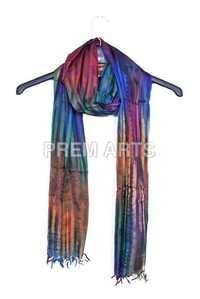 Dark Multi Color Silk Stole