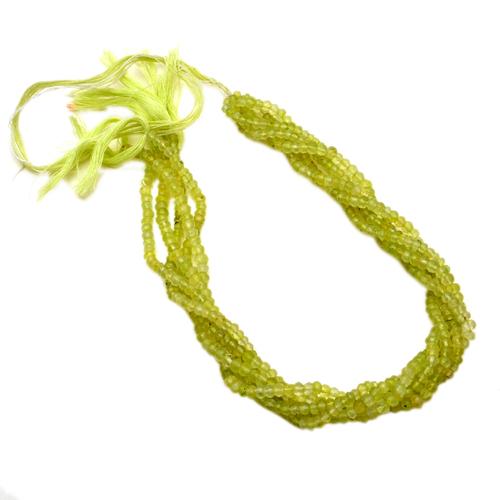 "Necklaces Peridot 3-4Mm 13"" Bead Strand"