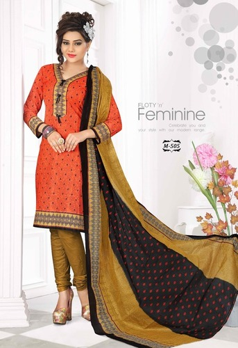 Cotton Printed Dress Materials Wholesaler Jetpur